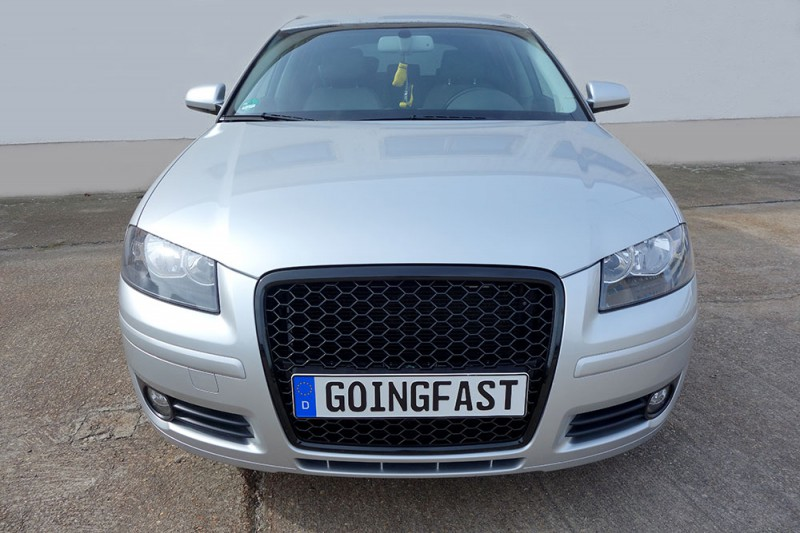 Audi A3 8p Badgeless Mesh Grill Debadged Sport Front Grill