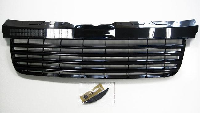 f r vw t5 bus v6 transporter k hlergrill front grill schwarz ohne emblem 03 09 ebay. Black Bedroom Furniture Sets. Home Design Ideas