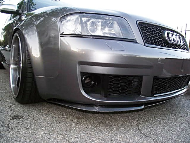 audi a6 s6 rs6 allroad c5 front bumper cup chin spoiler. Black Bedroom Furniture Sets. Home Design Ideas