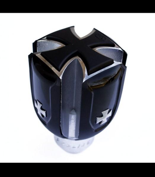 Universal-Schaltknauf-Iron-Cross-Eisernes-Kreuz-Schwarz-Knauf-Gear-Shift-Knob