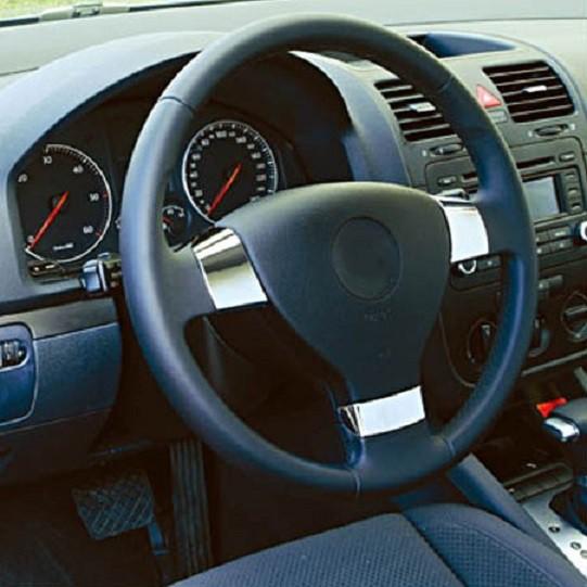 Vw Golf Mk5 5 Passat B6 3c Eos Jetta Mk3 3 Chrome Steering Wheel Inserts Covers Ebay
