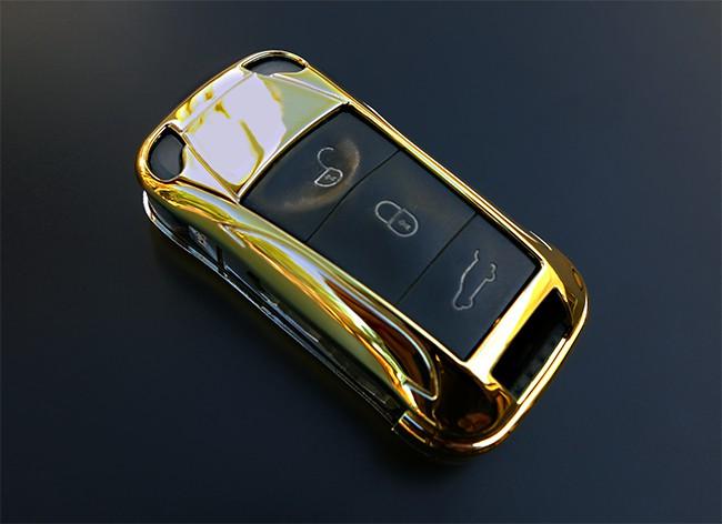f r porsche gold klapp schl ssel cover key cover schl ssel. Black Bedroom Furniture Sets. Home Design Ideas