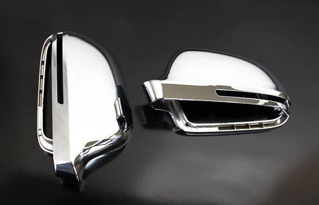 audi a4 s4 b8 chrome wing mirror door caps cover trim case. Black Bedroom Furniture Sets. Home Design Ideas