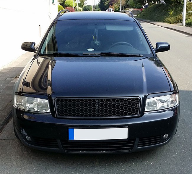 audi a6 4b c5 facelift front sport mesh honeycomb grill rs look s line 01 05 ebay. Black Bedroom Furniture Sets. Home Design Ideas