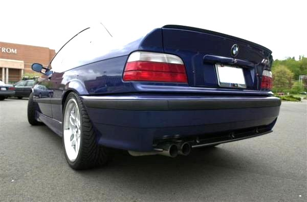 bmw e36 3 series coupe rear boot trunk spoiler lip wing. Black Bedroom Furniture Sets. Home Design Ideas