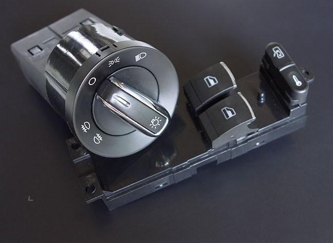 vw golf 4 chrom fensterheber schalter lichtschalter bora. Black Bedroom Furniture Sets. Home Design Ideas